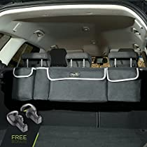 Trunk and Backseat car Organizer by Yogi Prime, Trunk Storage Organizer Will Provides You The Most Storage Space Possible, Use It As A Back Seat Storage Car Cargo Organizer and Free Your Trunk Floor