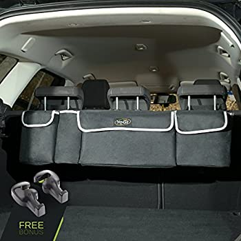 Amazon backseat trunk organizer space saving car trunk yogi prime trunk and backseat car organizer by trunk storage organizer will provides you the most storage space possible use it as a back seat storage car solutioingenieria Image collections