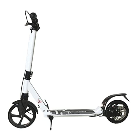 Patinete- Kick Scooter Adulto No Eléctrico Blanco, Plegable ...