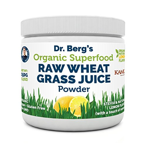 Natural Lemon Flavored Organic Wheat Grass Juice Powder with Kamut™ - Raw & Ultra-Concentrated Nutrients - Rich in Vitamins, Chlorophyll, Trace Minerals & Amino Acids - Gluten Free-Non-GMO - 5.3 oz