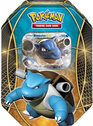 (Pokemon Blastoise EX Power Trios Tin Card Game)