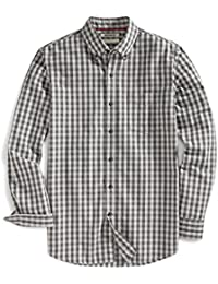Amazon Brand - Goodthreads Men's Slim-Fit Long-Sleeve Gingham Slub Shirt