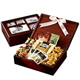 Broadway Basketeers Sweets & Snacks filled Photo Gift Box Collection - A Unique Gift Idea