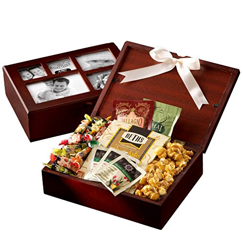 Gourmet Sweets & Snacks fill this Photo Gift Box Collection - A Unique Gift Idea. Perfect for Birthday, Mothers Day or the Holidays