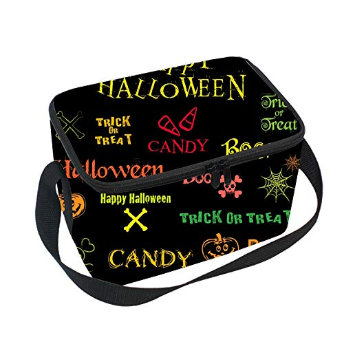 Halloween Icons Lunch Bag Waterproof Freezer Travel/Picnic/School Cooler Insulated Box Thermal Insulation ()