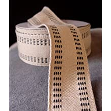 """AK-Trading Polyester Blend Burlap Webbing Ribbon with Stitching, 1.5"""" Inches X 10 Yards (Black)"""