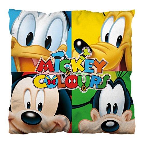 ARDITEX Coussin Réversible en Polyester Sous Licence Mickey Mouse Dimensions: 35x35cm, Polyester, Multicolore, 35 x 10 x 35 cm 008348 Ameublement et décoration
