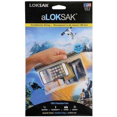 ALOKSAK Waterproof Pouch, TSA 9X6 (2PK)