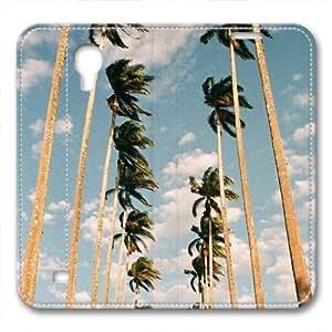 iCustomonline Leather Case for Samsung galaxy S4, ?Palm Trees Stylish Durable Leather Case for Samsung galaxy S4