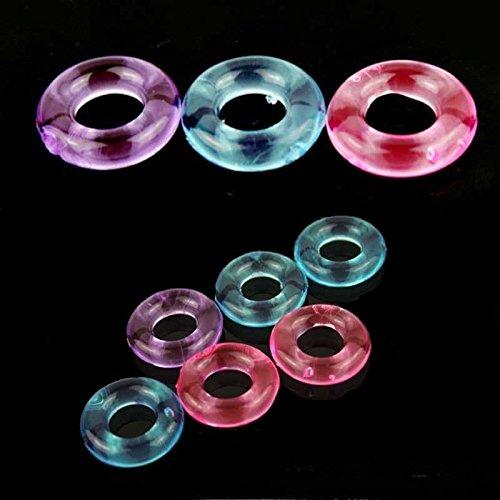AVIVROSE 100PCS Flexible Cock Rings Sex Toys for men delay Ejaculation dildo ring extender Erection Enhancing Cock Ring Medical Grade by AVIVROSE