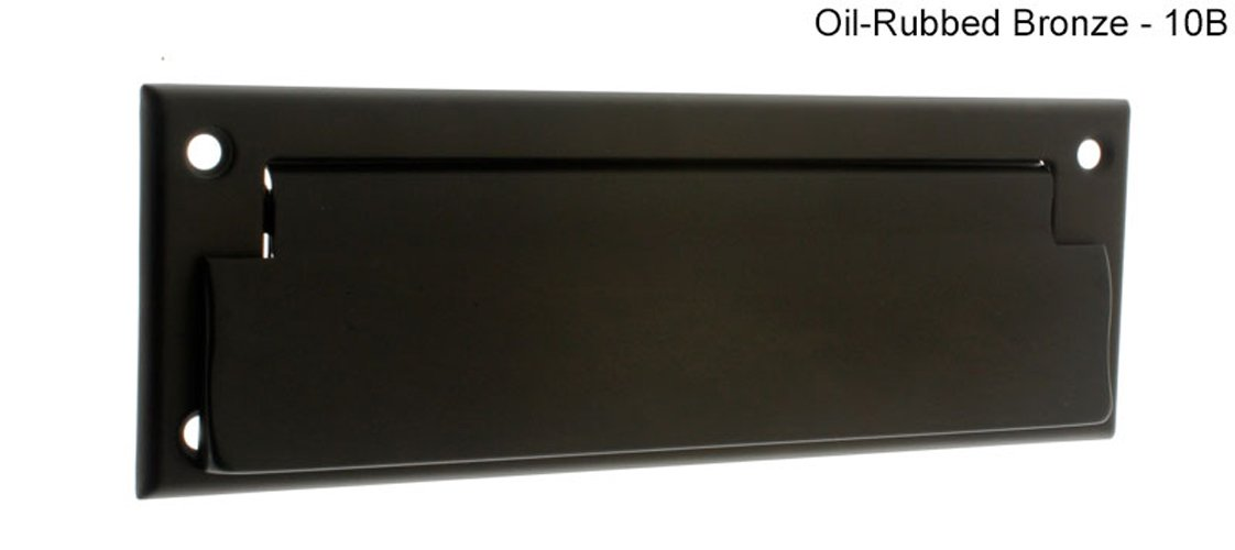 Idh by St. Simons 22111-10B Solid Brass Front Letter Mail Plate44; Oil-Rubbed Bronze