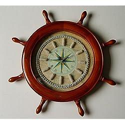 Nautical Decor Captain's Wheel Knot Clock