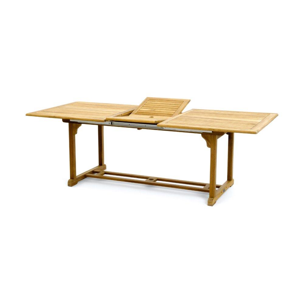 Belardo Oligia Auszieh-Gartentisch - rechteckig aus Teakholz