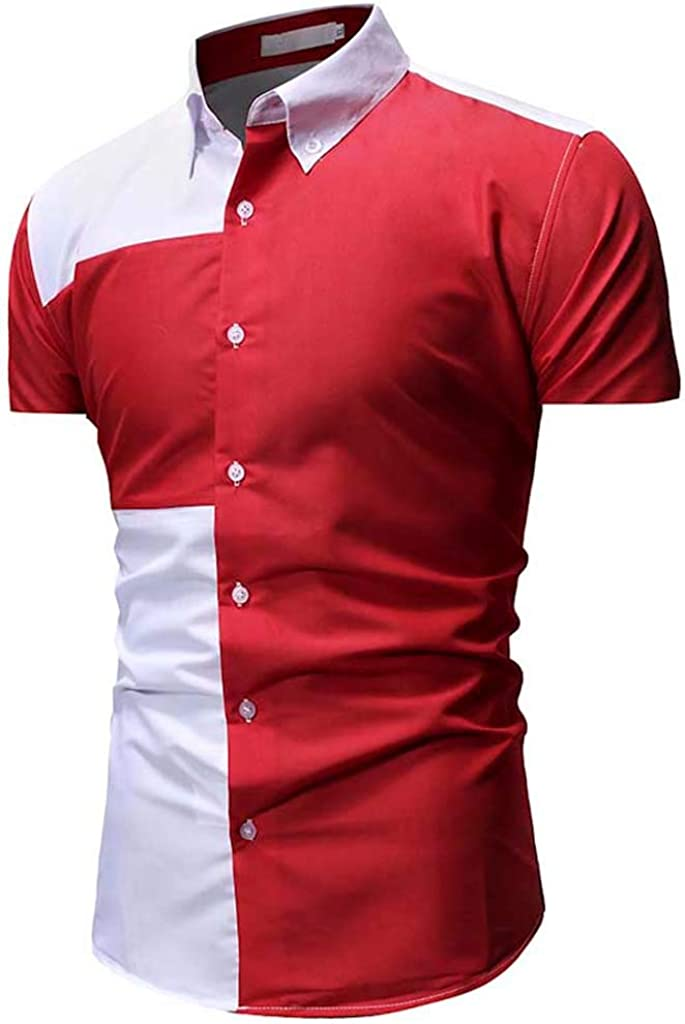 ZODOF Camisa a Cuadros Grande para Hombre Camiseta de Verano Camisa Delgada de Manga Corta Ocasional Top para Hombres: Amazon.es: Ropa y accesorios