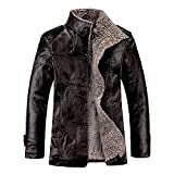 Product review for URBANFIND Men's Slim Wear Thick Fleece PU Leather Jacket