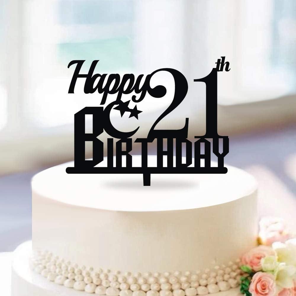 Tremendous Amazon Com Kiskistonite Happy Birthday Cake Topper Moon And Star Birthday Cards Printable Opercafe Filternl