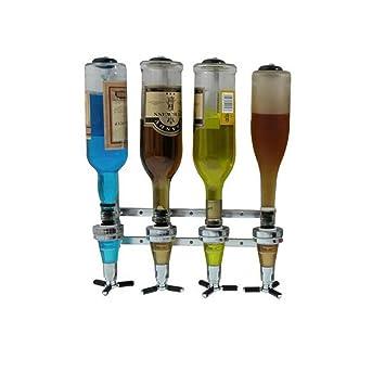Uarter ispensador de licor montado en la pared 4 estaciones Bar Liquor Butler Bebedor profesional para cerveza, refrescos y coque: Amazon.es: Electrónica
