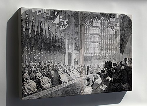 - Canvas 16x24; Wedding Of The Prince Of Wales And Alexandra Of Denmark, 1863 St Georges Chapel Windsor Castle