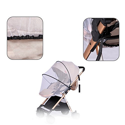 Topwon Universal Full Cover Baby Mosquito Net/Insect Mesh Netting Fits Most Strollers Bassinets, Cradles Chair seat and Car Seats Safe Elastic Design - Black by Topwon (Image #1)