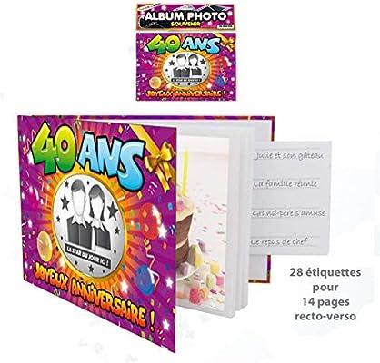 SLA - Álbum de fotos personalizable, diseño de 40 cumpleaños ...