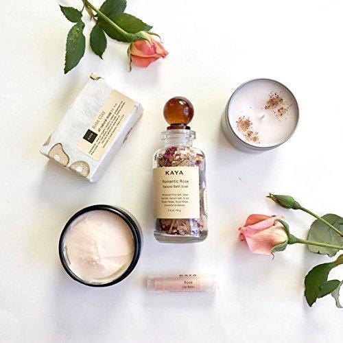 Rose Bath and Body Gift Set | Handmade, All Natural | Spa Gift
