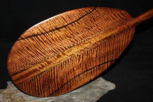 Deep Tiger Curls Koa Paddle 60'' AAA Grade Steersman - Hawaii Made | #koab17 by TikiMaster