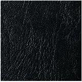 GBC LeatherGrain - Tapas de encuadernación (formato A5, 250 g/m²), color negro