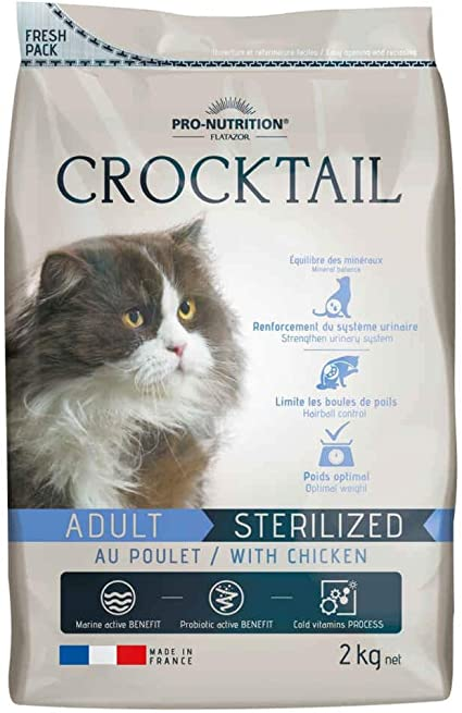 Pro Nutrition Flatazor Crocktail Adult Sterilized 2 Kg Cat Food With Poultry Amazon De Pet Supplies