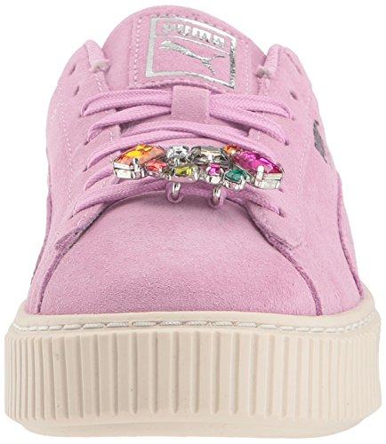 5 kids Suede Platform Jewel Kid Us Big Puma Orchid Silver Unisex M Sneaker 8T5q44