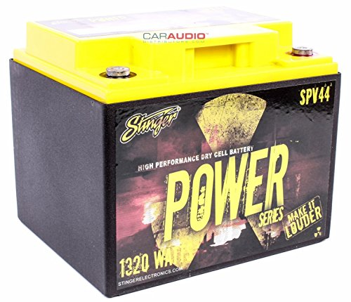 Stinger SPV44 660-Amp Power Series Dry Cell Battery with Protective Steel Case for Systems Up to (Dry Cell Car Audio Battery)
