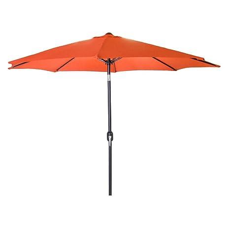 9u0027 Steel Market Umbrella In Orange