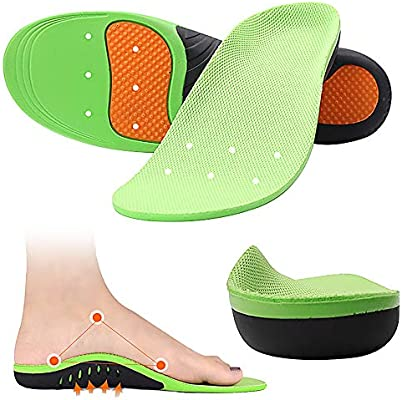 698a3072ae563 Amazon.com: Aaister High Arch Support Orthotic Shoe Insoles for Men ...