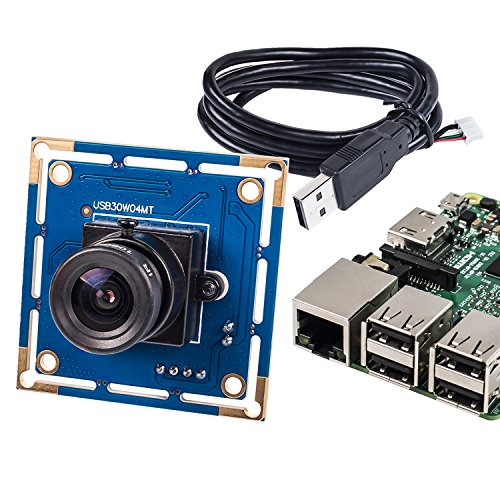 SunFounder Free Driver USB2.0 Camera Module Raspberry Pi USB Camera Lens 1/4 inch 640x480 Resolution for Android/Linux/Mac/Windows (Mjpeg Usb)