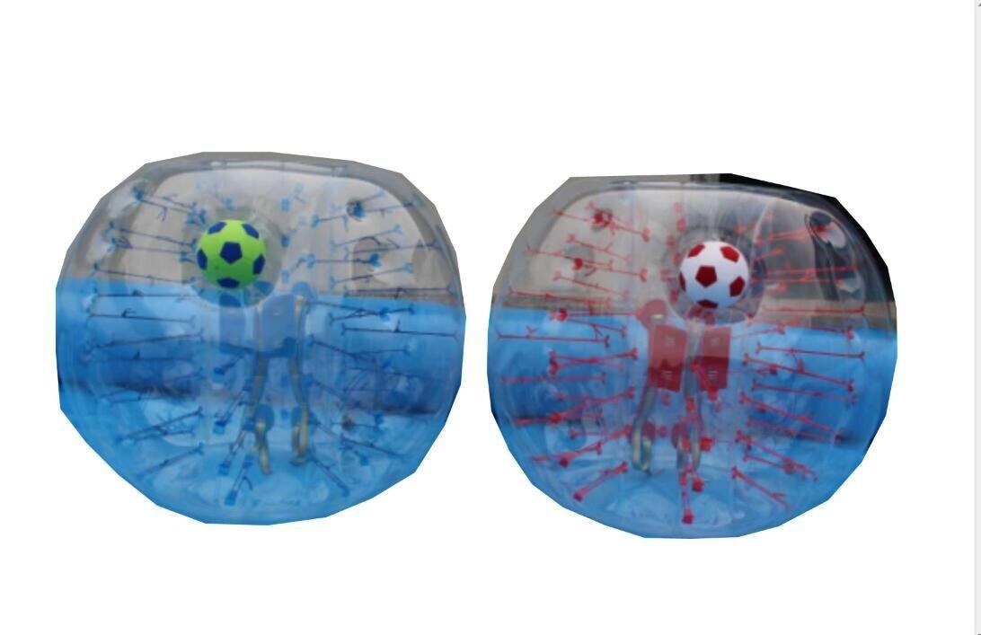 bumper ball body zorb膨張式バンパーバブルサッカーボール 直径 4/5フィート(1.2/1.5m) 人間用ジャイアントハムスターボール 大人子供向け 4 FT 透明 B07C4LJL6S 透明PVC1.2M,1.2 メートル