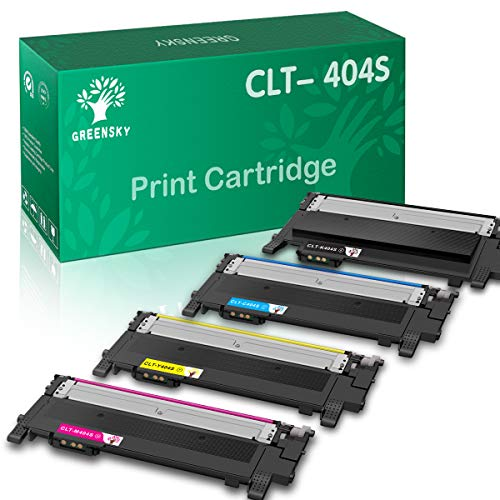 GREENSKY Compatible Toner Cartridge Replacement for Samsung CLT-K404S CLT-C404S CLT-M404S CLT-Y404S Xpress SL-C430W SL-C430FW SL-C480FW SL-C480W SL-C480FN (Black, Cyan, Yellow, Magenta, 4-Pack)