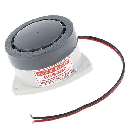 SM SunniMix Bocina de Alarma Industrial Equipos Mecánicos para Indicaciones Equipo de Industrias Tester