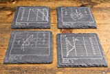 Broncos Greatest Plays - Slate Coasters