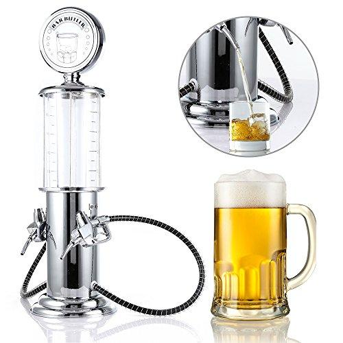 (Casavidas Mini Beer Dispenser Machine Drinking Vessels Double Gun Pump Transparent Layer Design Gas Station Bar Beer Kitchen Drinking Wine: Russian Federation, clear white)