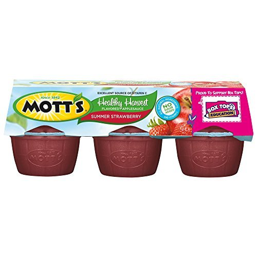 Mott's Healthy Harvest Summer Strawberry Applesauce, 3.9 oz cups (Pack of 72) by Mott's (Motts Healthy Harvest)