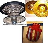 4 1 2 diamond cup - 1 inch 25mm Full Bullnose Diamond Router Bit 2 Inch Zero Tolerance Drum 4 Inch Coarse Grinding Cup Wheel Granite Concrete Travertine Quartz