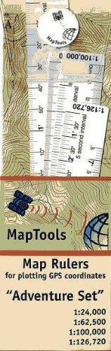 Set Of 4 UTM/Latitude Longitude Map Rulers
