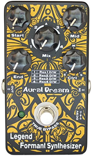 Aural Dream Legend Formant Synthesizer Guitar Effects Pedal with 9 Human Vowels based on expanding wah similar to''Talk box'', True Bypass by Aural Dream