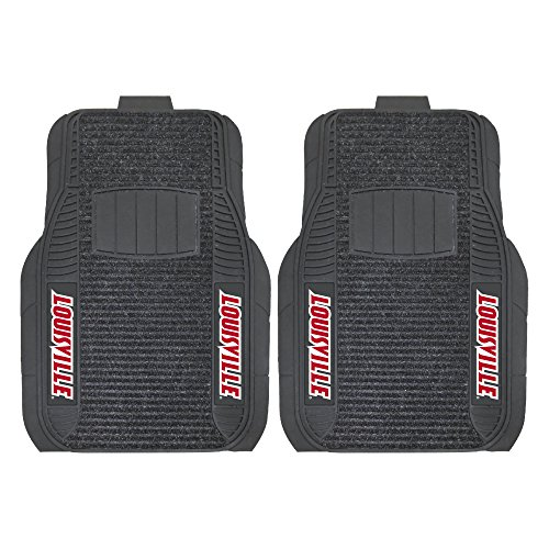 FANMATS NCAA University of Louisville Cardinals Nylon Face Deluxe Car Mat (Cardinals Louisville Car)