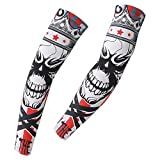 HYSENM Sunscreen UV Protection Cool Arm Sleeves for Cycling Running Basketball Fishing Hiking Golf Antibacterial Breathable Sweat Absorption
