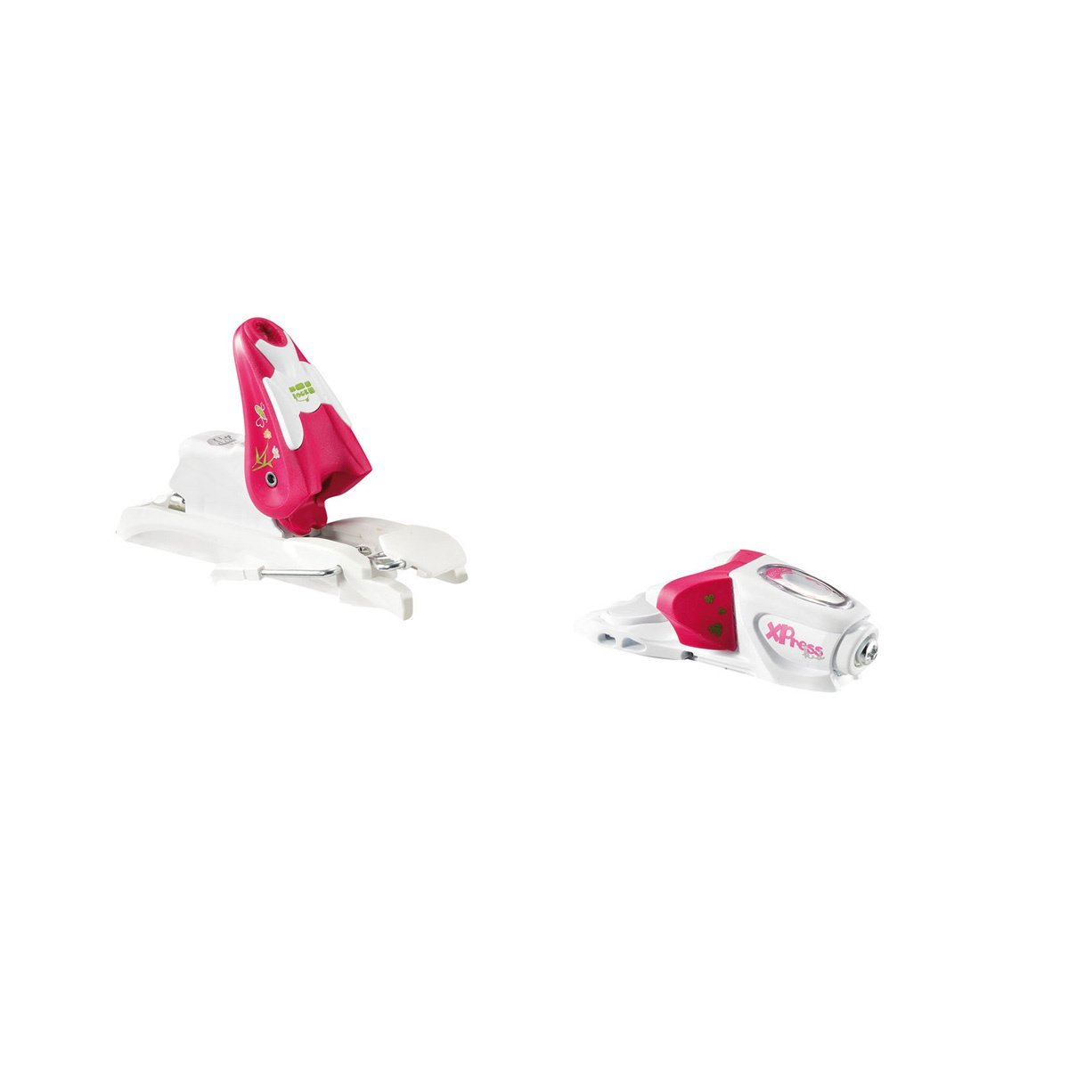 Look Xpress Kid Ski Bindings One Size White/Berry by Look