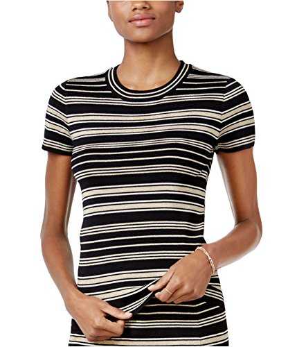 Nylon Sweater Metallic (RACHEL Rachel Roy Women's Striped Sweater (Metallic Combo, XL))