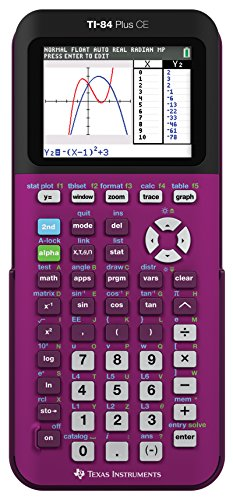 Texas Instruments TI-84 Plus CE Plum Graphing Calculator (Ti 84 Plus Ce Graphing Calculator Manual)