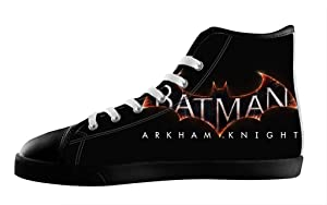Custom High Top Sneakers Batman Design Lace Up Canvas For Men's Shoes-12M(US)