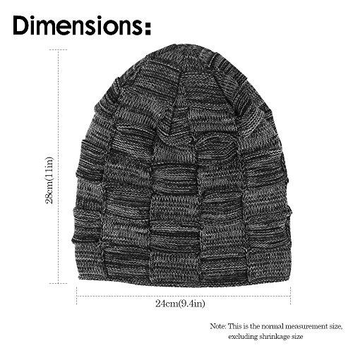 Gorro invierno polar tip slouch red de punto de ONSON invierno interior con beanie Negro de suave de tipo forro Gorro cesta fwEx6dq