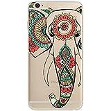 Coque Iphone 5 5S SE Elephant Indien henne ethnique mandala fleur silicone souple